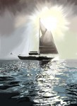 Sailboat Backlit